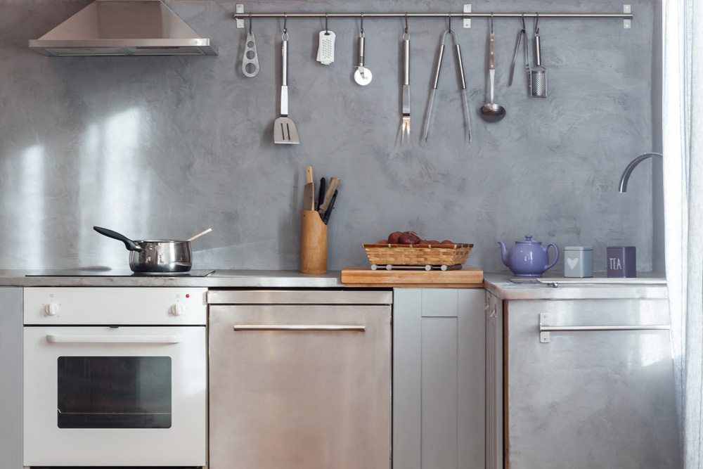Plan de travail de cuisine en béton ciré